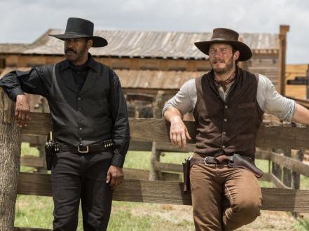 Denzel Washington & Chris Pratt in The Magnificent Seven