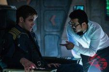 Chris Pine & Justin Lin on set Star Trek Beyond