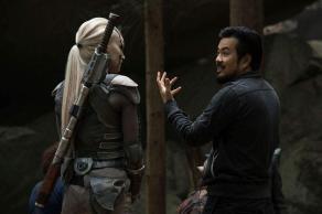 Sofia Boutella & Justin Lin on set Star Trek Beyond