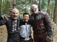 Justin Lin on set Star Trek Beyond