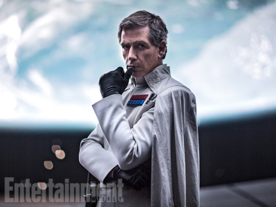 "Krennic Schemes for Dominance Ben Mendelsohn's Director Orson Krennic is responsible for protecting the security of the Death Star project, but he's also a manipulator within the Empire. ""He understands the system and he knows how things work, but he also is not above trying to bend it to get what he needs or what he thinks he wants,"" says Kiri Hart, Lucasfilm's head of story development. Krennic is intended to be a contrast to Imperial officers we've seen before, like Peter Cushing's Grand Moff Tarkin. ""Tarkin is the model for these really cool, icy types, you know?"" Hart says. ""Krennic runs a little hotter than that, so that's kind of fun and it's a little bit different. … He is unpredictable and volatile."""