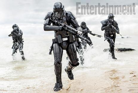 Deathtroopers Turn the Tide A new, deadlier breed of commando Stormtrooper is storming the beach. As part of EW's exclusive preview of Rogue One: A Star Wars Story, we bring you this gallery of new images from the Dec. 16 film. Leading things off: This shot of a squad of Deathtroopers, who are tasked with hunting down and destroying the fragmented Rebel uprising.