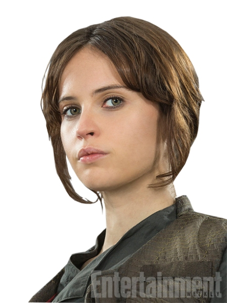 "A streetwise delinquent who has been on her own since 15, she has fighting skills and a knowledge of the galactic underworld that the Rebel Alliance desperately needs. ""She's got a checkered past,"" says Lucasfilm president and Rogue One producer Kathleen Kennedy. ""She has been detained [by the Rebellion] and is being given an opportunity to be useful. And by being useful, it may commute her sentence… She's a real survivor. She becomes a kind of Joan of Arc in the story."""
