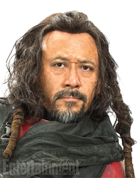 """Heavily armored, Baze prefers a blaster to hokey religions and ancient weapons, but he is devoted to protecting his friend Chirrut at all costs. """"He understands Chirrut's spiritual centeredness, but he doesn't necessarily support it,"""" Kennedy says. Baze goes along with this Force business because """"it's what his friend deeply believes,"""" she adds. Think of them as a little like the galactic version of Don Quixote and Sancho Panza."""