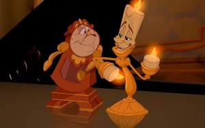 Cogsworth & Lumiere in Beauty and the Beast