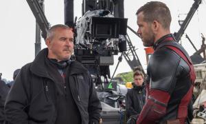 Tim Miller & Ryan Reynolds on set Deadpool