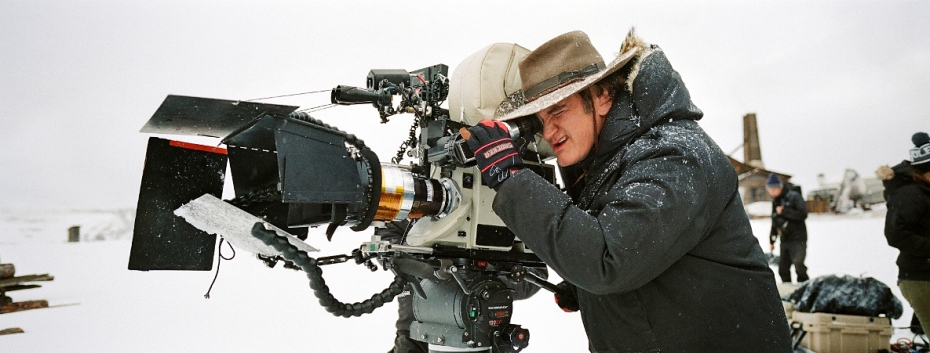 Quentin Tarantino on set The Hateful Eight