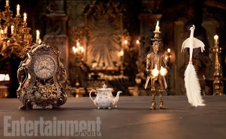 Cogsworth, Mrs. Potts, Lumiere & Plumette for Beauty and the Beast