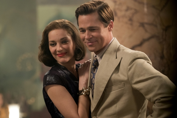 Marion Cotillard & Brad Pitt in Allied
