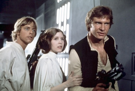 Mark Hamill, Carrie Fisher & Harrison Ford in Star Wars