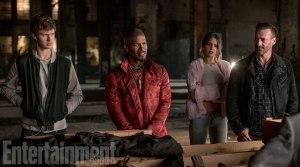 Ansel Elgort, Jamie Foxx, Eiza Gonzalez & Jon Hamm in Baby Driver