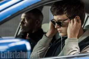 Ansel Elgort & Jamie Foxx in Baby Driver