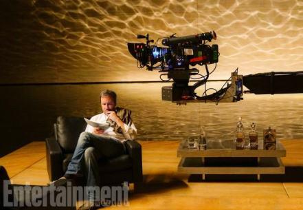 Denis Villeneuve on set Blade Runner 2049