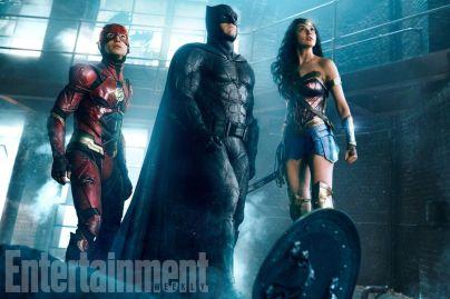 Ezra Miller, Ben Affleck & Gal Gadot in Justice League
