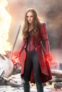 Elizabeth Olsen as Scarlet Witch in Captain America: Civil War