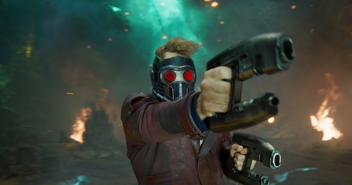 Chris Pratt as Star-Lord in Guardians of the Galaxy Vol. 2