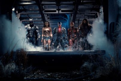 Ben Affleck, Gal Gadot, Ray Fisher, Ezra Miller & Jason Momoa in Justice League