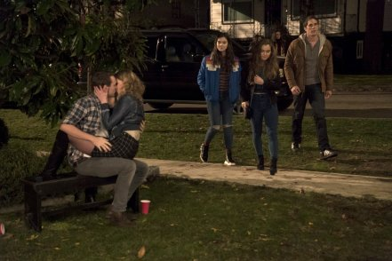 Hailee Steinfeld, Haley Lu Richardson & Blake Jenner in The Edge of Seventeen