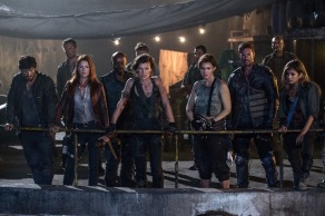Milla Jovovich, Ali Larter, Fraser James, William Levy, Eoin Macken, Ruby Rose, and Rola in Resident Evil: The Final Chapter
