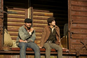 James Franco & Nat Wolff in In Dubious Battle