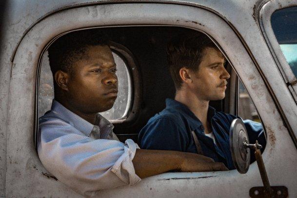 Jason Mitchell & Garrett Hedlund in Mudbound