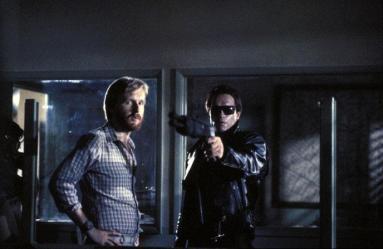 James Cameron & Arnold Schwarzenegger in The Terminator