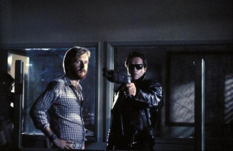 James Cameron & Arnold Schwarzenegger in The Terminator