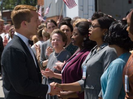 Glen Powell, Octavia Spencer, Taraji P. Henson & Janelle Monae in Hidden Figures