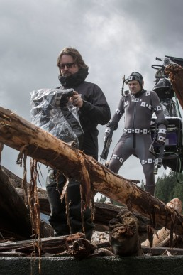 Matt Reeves & Andy Serkis on set Dawn of the Planet of the Apes