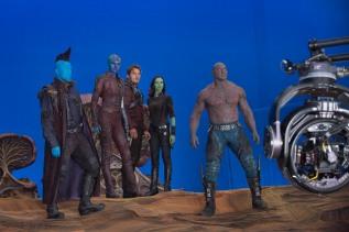Michael Rooker, Karen Gillan, Chris Pratt, Zoe Saldana & Dave Bautista on set Guardians of the Galaxy Vol. 2
