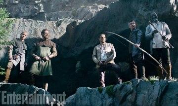 Charlie Hunnam, Aidan Gillen & Djimon Houtsou in King Arthur: Legend of the Sword