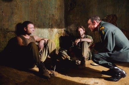 Liev Schreiber, Hugh Jackman & Danny Huston in X-Men Origins: Wolverine