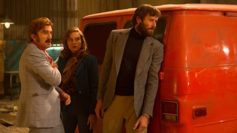 Sharlto Copley, Brie Larson & Armie Hammer in Free Fire