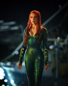"@creepypuppet: ""Lady MERA swept in from the sea. First day with the exquisite Amber Heard. (Shot by the talented @jasinboland )"""