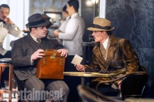 Josh Gad & Johnny Depp in Murder on the Orient Express
