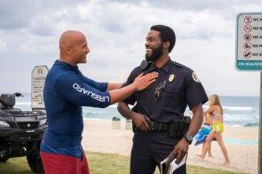 Dwayne Johnson & Yahya Abdul-Mateen II in Baywatch