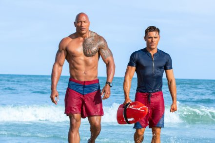 Dwayne Johnson & Zac Efron in Baywatch
