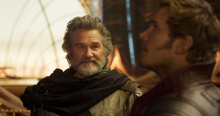 Kurt Russell & Chris Pratt in Guardians of the Galaxy Vol. 2