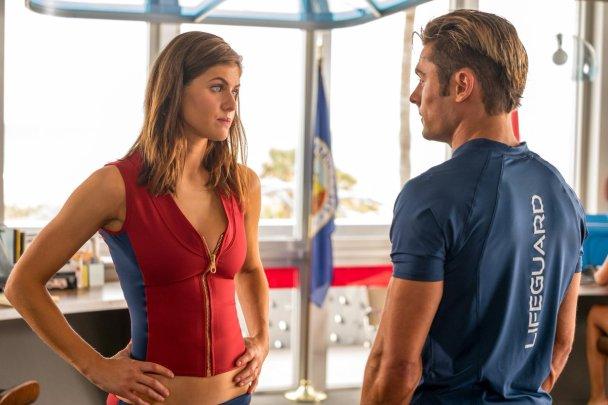 Alexandra Dadarrio & Zac Efron in Baywatch