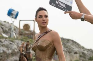 Gal Gadot on set Wonder Woman