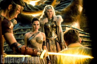 Gal Gadot, Connie Nielsen & Chris Pine in Wonder Woman