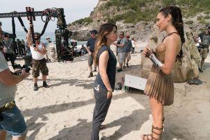 Patty Jenkins & Gal Gadot on set Wonder Woman