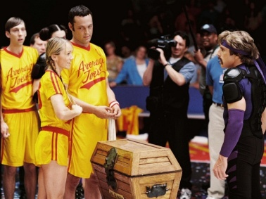 Christine Taylor, Vince Vaughn & Ben Still in Dodgeball: A True Underdog Story