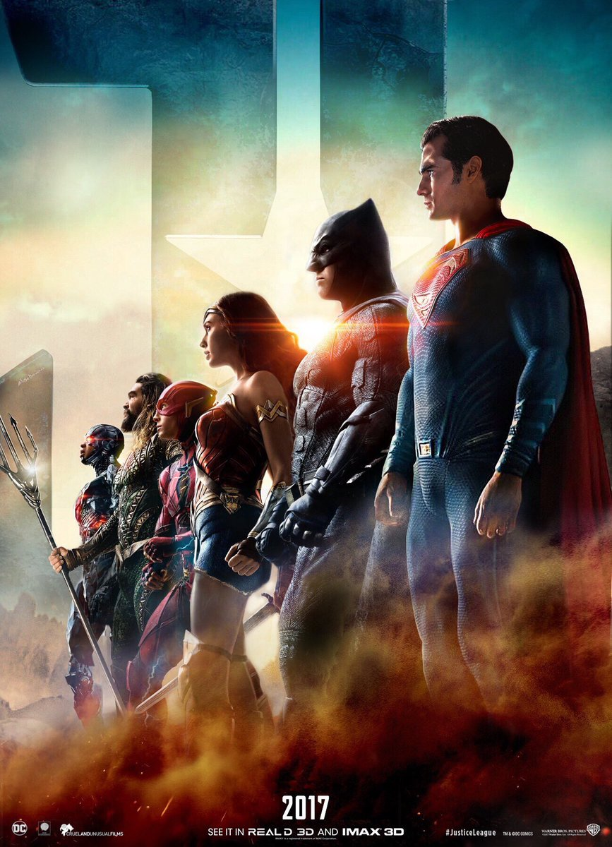 New Justice League Poster FINALLY Adds Superman Trailer To