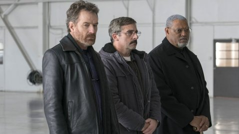Bryan Cranston, Steve Carell & Laurence Fishburne in Last Flag Flying