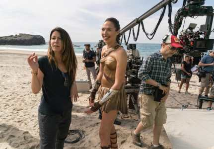 Patty Jenkins & Gal Gadot on set Wonder Woman