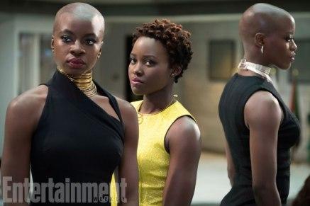 Danai Gurira, Lupita Nyong'o & Florence Kasumba in Black Panther