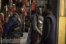 Michael B. Jordan, Chadwick Boseman & Daniel Kaluuya in Black Panther