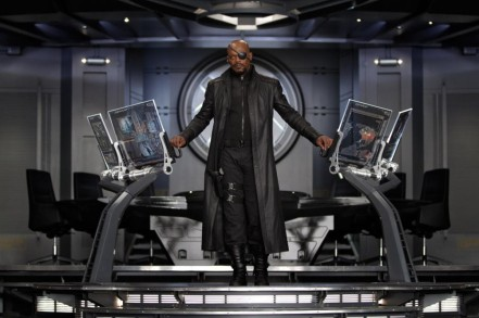 Samuel L. Jackson as Nick Fury in The Avegners