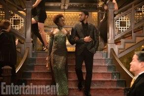 Lupita Nyong'o & Chadwick Boseman in Black Panther